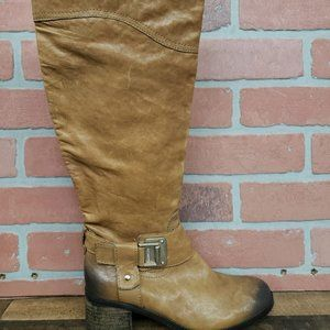 Vince Camuto Finella Tan  Leather  knee High Boots
